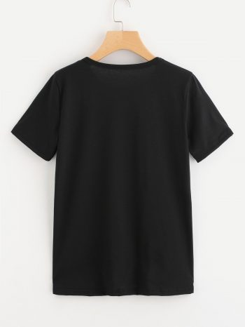 Novedades Camiseta de pesta  as Negra 2 350x466