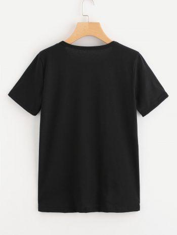 Rebajas Camiseta de pesta  as Negra 2 350x466