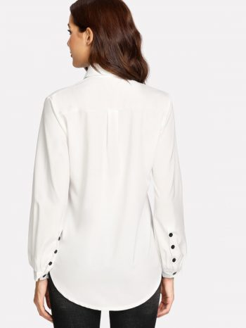 Blusas/Jerséis/Vestidos Blusa Con Lazo Para Atar 4 350x466