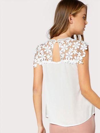 Blusas/Jerséis/Vestidos Blusa De Encaje Y Espalda Con Abertura 350x466