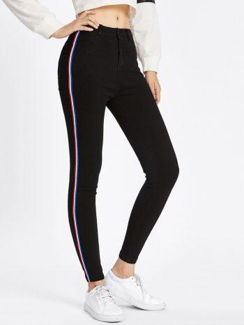 Rebajas pantalon negro con raya 350x466