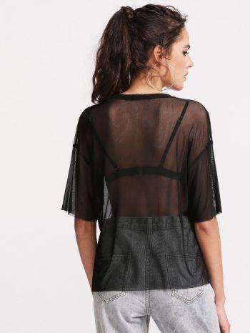 Blusas/Jerséis/Vestidos top negro transparente 2 350x466