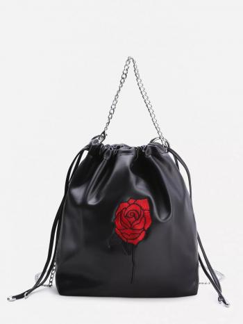 bolsos-maletas Bolso Con Bordado De Rosa Y Cord  n 350x466