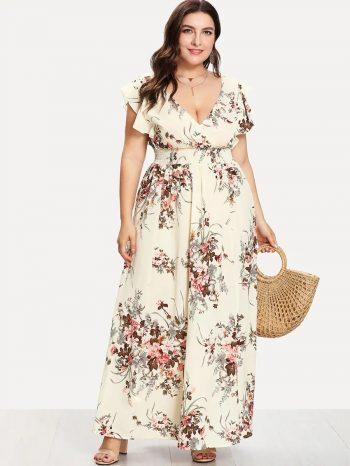 Rebajas Vestido Floral Con Cintura Fruncida 1 350x466