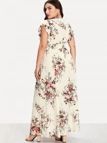 Rebajas Vestido Floral Con Cintura Fruncida 2 1 350x466