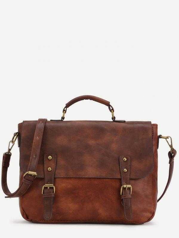 Bolso satchel tachuelas PU de bloques de colores 14744211873529436418 600x799