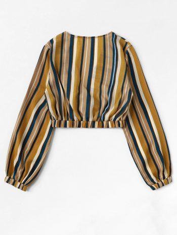 Blusas/Jerséis/Vestidos Blusa a rayas con cuello en V 1 350x466