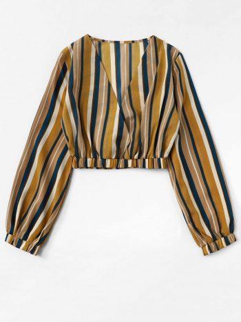 Blusas/Jerséis/Vestidos Blusa a rayas con cuello en V 4 350x466