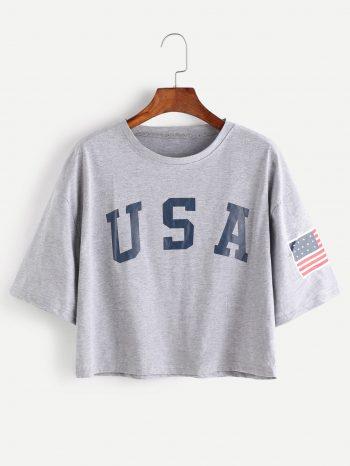 Blusas/Jerséis/Vestidos Camiseta USA de hombre caidos 350x466