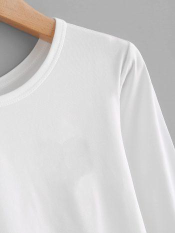 Blusas/Jerséis/Vestidos Camiseta b  sica manga larga 2 350x466