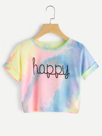Blusas/Jerséis/Vestidos Camiseta efecto colores pastel 350x466