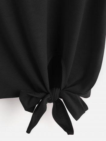 No Sidebar Camiseta negra con lazo 2 350x466