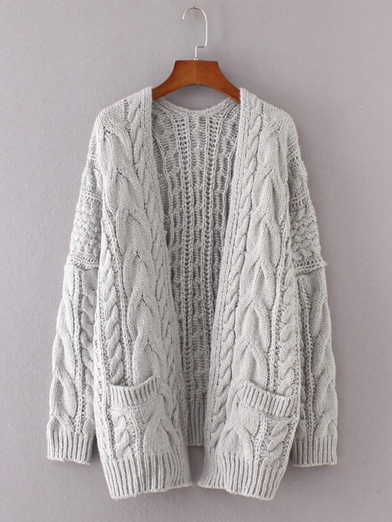 Cardigan gris tejido – Seven Store – Tienda de Ropa para Mujer 300e1333c4dd
