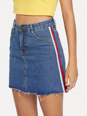 No Sidebar Falda de jean con cinta 1 350x466