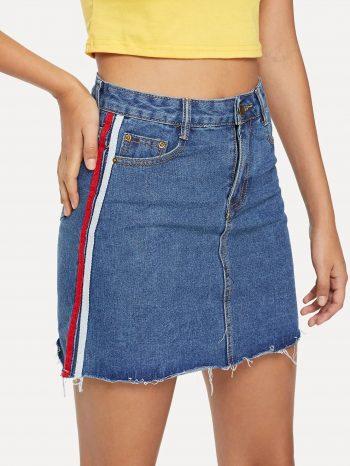 No Sidebar Falda de jean con cinta 2 1 350x466