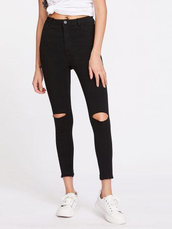 No Sidebar Pantalones con corte en rodilla 2 350x466
