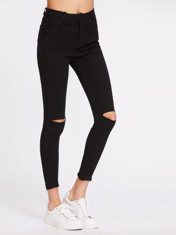 No Sidebar Pantalones con corte en rodilla 350x466
