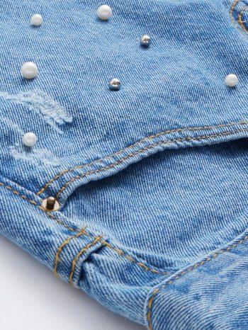 Rebajas Pantalones vaqueros de perla sint  tica 5 1 350x466