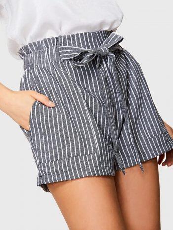 Rebajas Shorts a rayas con nudo en cintura 1 350x466
