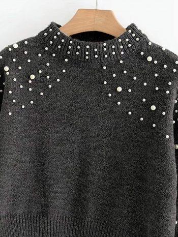 No Sidebar Su  ter Gris de manga perla 2 350x466