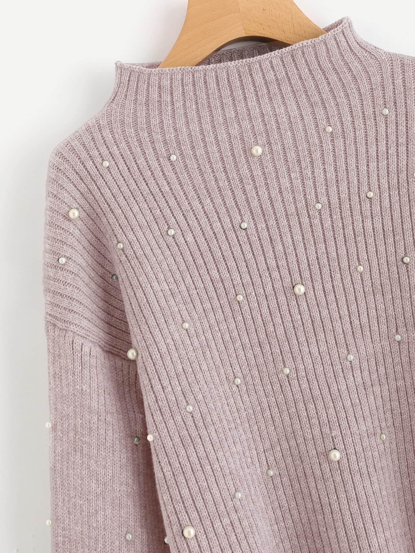 Suéter Rosa con adornos de perlas – Seven Store – Tienda de Ropa para Mujer 2268ff8c71b6
