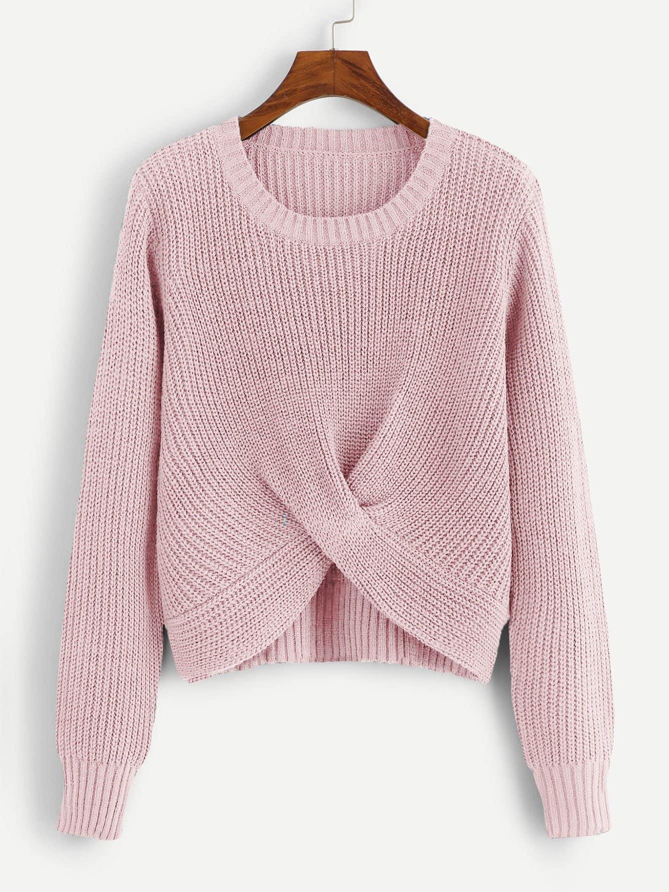 Suéter Sólido Con Detalle – Seven Store – Tienda de Ropa para Mujer be2f8de4ada6