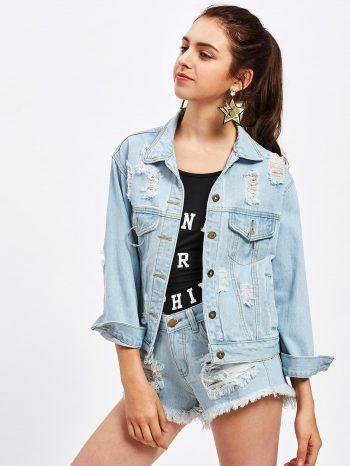 Rebajas chaqueta de jean vaquera 350x466
