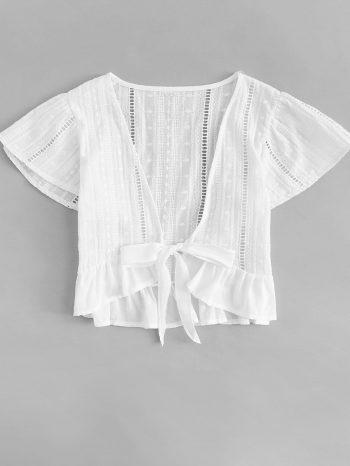 Blusas/Jerséis/Vestidos Blusa escote en V con mo  o 2 350x466