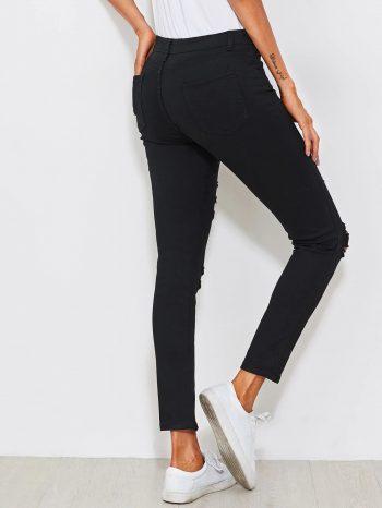 No Sidebar Jeans ajustados desgastados 2 350x466