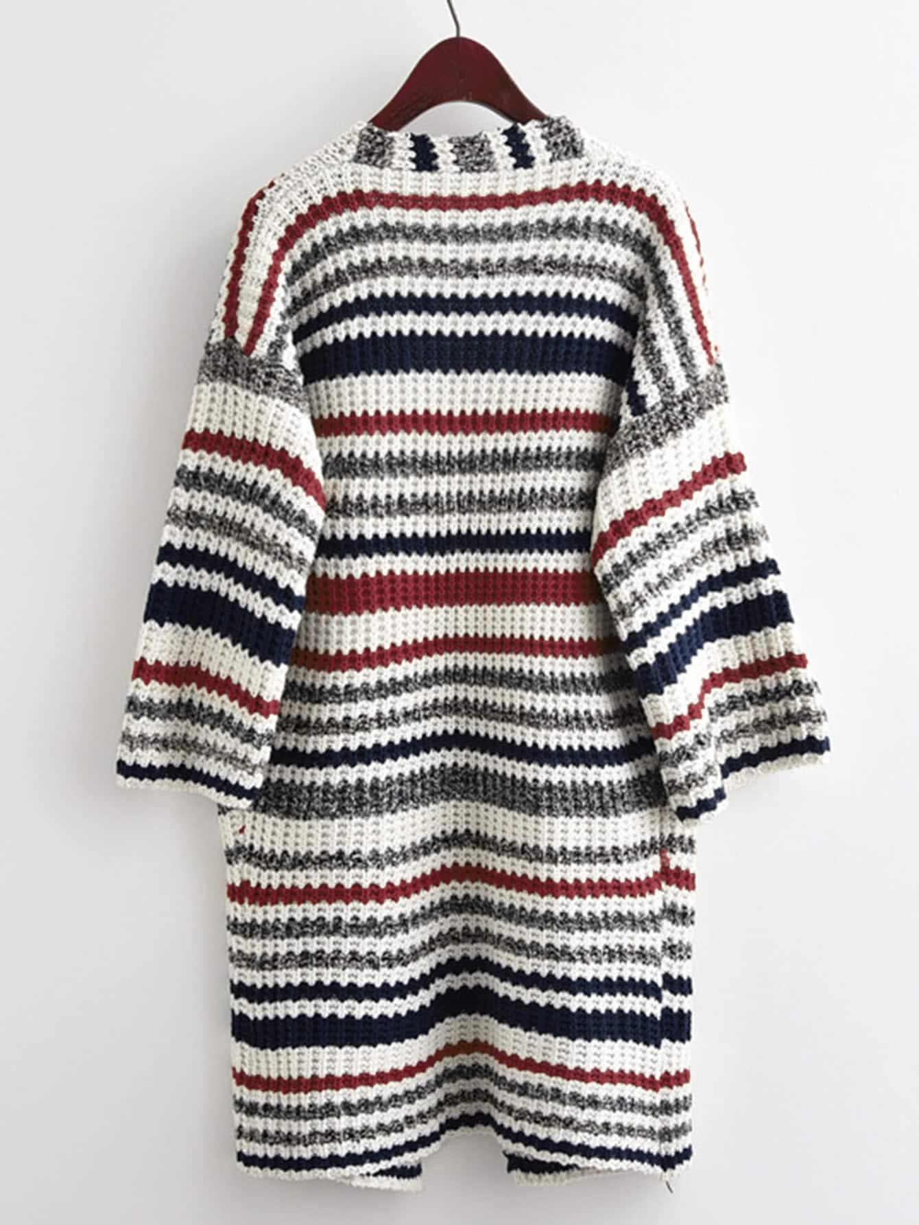 Suéter Cardigan De Rayas Largo – Seven Store – Tienda de Ropa para Mujer d7cffb57627a