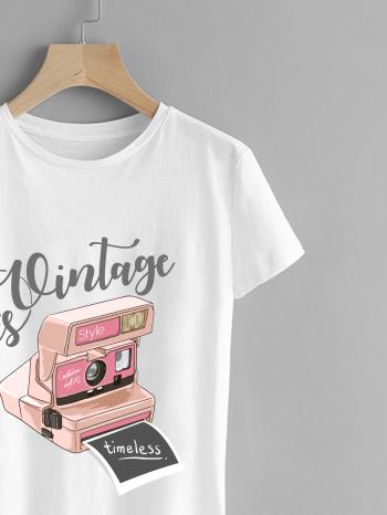No Sidebar camiseta estampado vintage 1 350x466