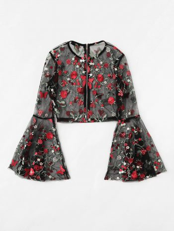 No Sidebar blusa malla floral 1 350x466