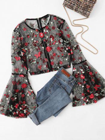 Rebajas blusa malla floral 4 1 350x466
