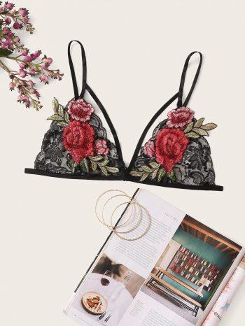 Blusas/Jerséis/Vestidos Bralette con apliques de flores 350x466