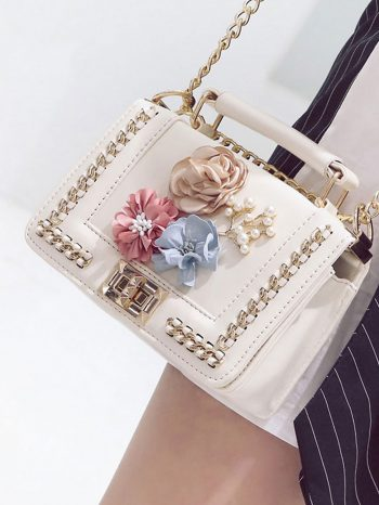 bolsos-maletas Bolso de Mano con flor 3 350x466