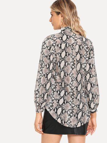 No Sidebar Blusa Con Estampado Piel De Serpiente 2 350x466
