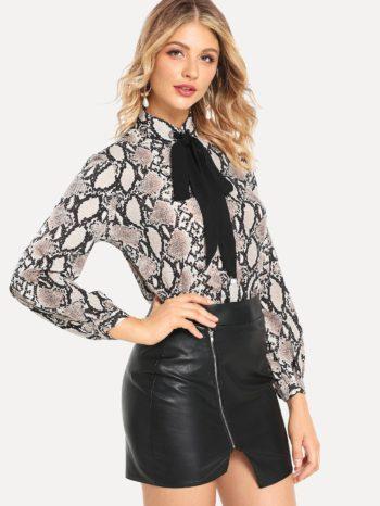 Blusas/Jerséis/Vestidos Blusa Con Estampado Piel De Serpiente 350x466