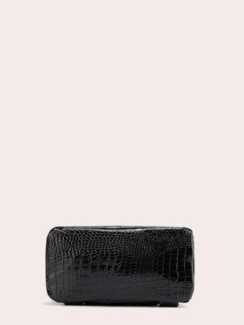bolsos-maletas Mochila curvada en relieve de cocodrilo 4 350x466