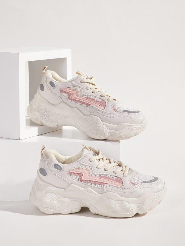 Zapatillas de deporte con suela gruesa Blancas Zapatillas de deporte con suela gruesa Blancas 600x799
