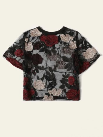 No Sidebar Blusa Fina Con Bordado Floral 2 350x466
