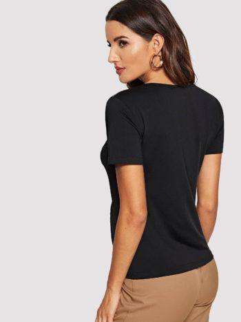Blusas/Jerséis/Vestidos Blusa ajustada con inserci  n de malla 2 350x466