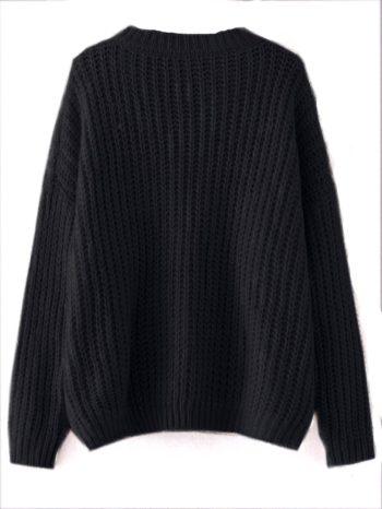 No Sidebar Jersey texturizado con hombros descubiertos negro 2 350x466