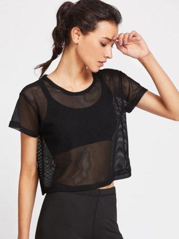 Blusas/Jerséis/Vestidos Camiseta de malla hueca 350x467