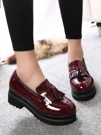 Fullwidth Zapatos informales de plataforma vino tinto 350x467