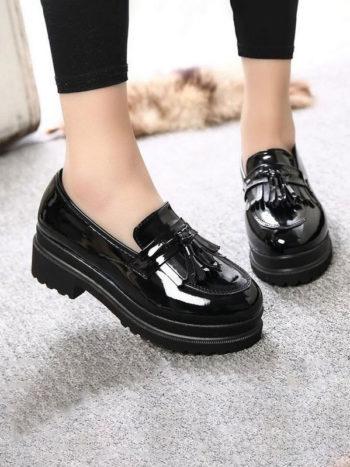 No Sidebar zapatos informales de plataforma 1 350x467