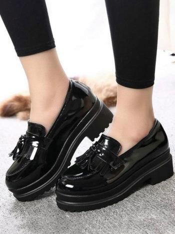 No Sidebar zapatos informales de plataforma 2 350x467